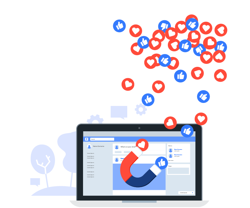 Web-2-business social media ads